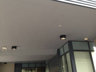 Commercial construction ceiling exterior