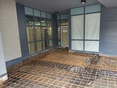 Commercial construction exterior entrance